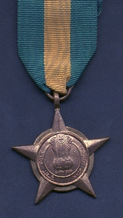 Indian Army has awarded POORVI STAR for my participation in military operation in the Chittagong Hill Tracts during the Indo-Pak War of 1971