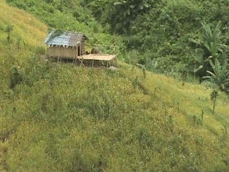 Chittagong Hill Tracts is sparsely populated with isolated dwellings.