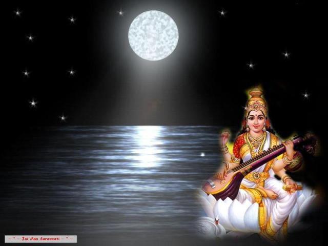 Moon, 'INDU' and the radiant personality of Sarasvati.