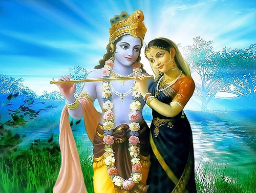 MADHAVA is the Companion of RADHA.