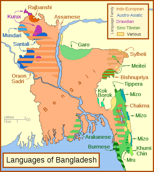 For brief moments during 1971, messages in TELUGU language had appeared in the radio waves transmitted across Chittagong Hill Tracts.