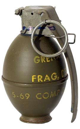 Made in China High-Explosive Fragmentation Hand Grenade. Chinese Army uses such type of hand grenades. Pakistan receives arms and ammunition from Communist China apart from the massive military aid it receives from the United States of America. In the Indo-Pak War of 1971, we had captured enemy posts and had recovered arms and ammunition that were made in China. Since I had participated in the War, I know the weapons, ammunition, and equipment used and their source.