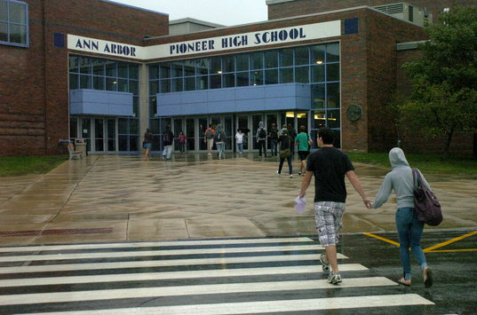 Pioneer High School, Ann Arbor, Michigan. The Students started a new School Year on September 08. My children in the past had attended this School. In the past ten years, I had visited this building countless number of times particularly after the School is closed at the end of the day.