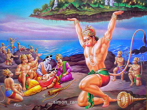 The Battle Field Resuscitation of Prince Lakshmana by HANUMAN