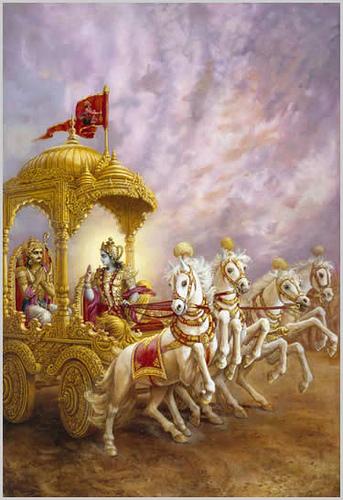 Sattvam, rajas, tama iti gunah prakriti- sambhavah, Nibadhnanti Maha-Baho, dehe dehinam avyayam.