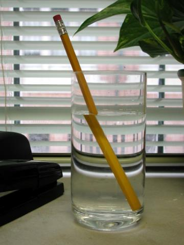 Pencil in Water Illusion