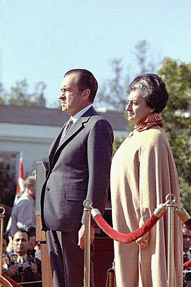 Prime Minister Indira Gandhi with President Richard Nixon on November 03, 1971 while I was taking part in Operation Eagle to initiate Liberation of Bangladesh with military action in Chittagong Hill Tracts.