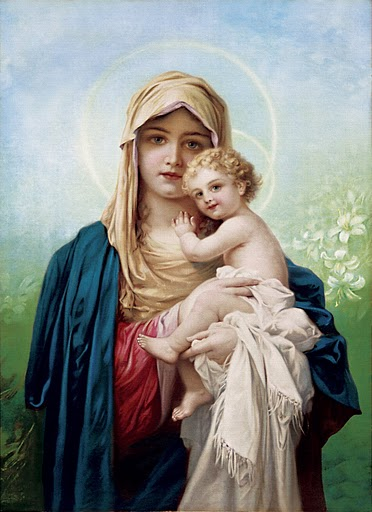 Mother Mary holding baby Jesus-When does Human Life begins?
