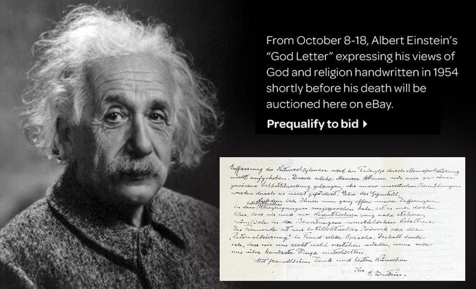 Einstein God Letter In English