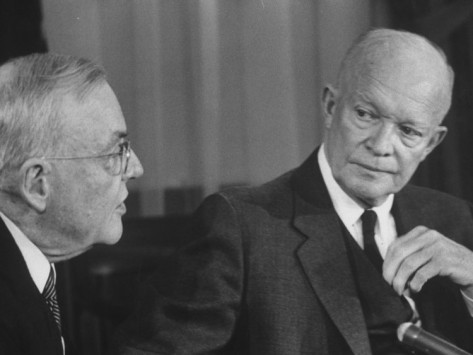 "FREEDOM IN TIBET: THE WAR AGAINST COMMUNISM. John Foster Dulles and US President Dwight D Eisenhower continued the ""TRUMAN DOCTRINE"" to combat Communism using military alliances and pacts."