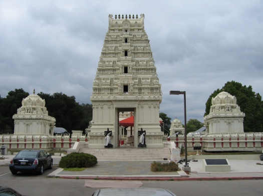 """The Hindu Temple, Malibu, Southern California. Is this the Temple in which I am destined to worship the LORD GOD??? The New Testament Book, The Epistle of Apostle Paul to Ephesians, Chapter 2, verse# 21 reads: """"In Him the Whole building is joined together and rises to become a Holy Temple in the LORD."""" Why does the Hindu-Brahmin community treat me as a Foreigner and Alien and provided the contingency to take away my Freedom???"""