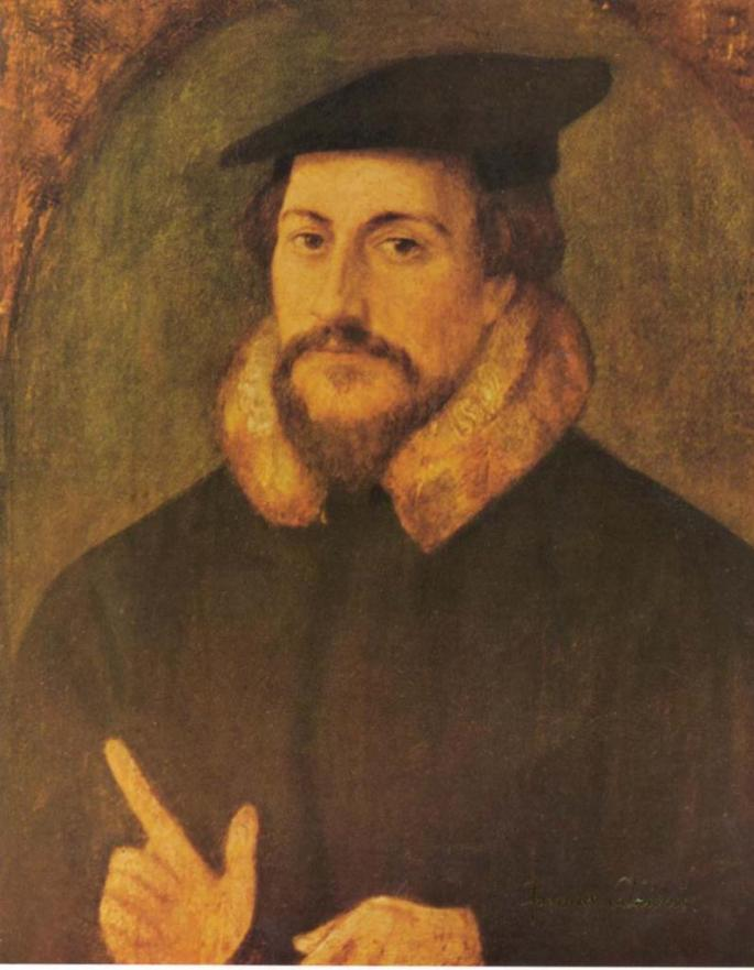John Calvin(1509 - 1564), French Protestant theologian of the Reformation held the view that human free will is predetermined. While rejecting the role of free will, Calvinism maintains that God's grace is irresistible.