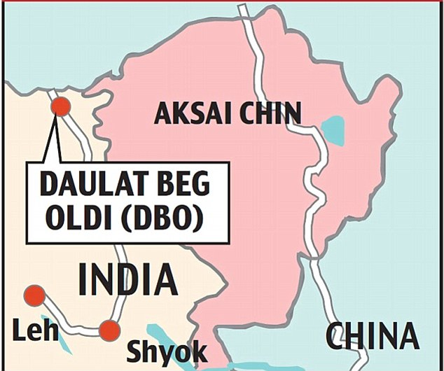 SPECIAL FRONTIER FORCE - THE MILITARY CONFLICT WITH CHINA: India cannot reconcile with People's Republic of China's military occupation of Tibet. On April 15, 2013 Indians have discovered evidence of China's military expansionism in the sector called Daulat Beg Oldi of India's Ladakh region.
