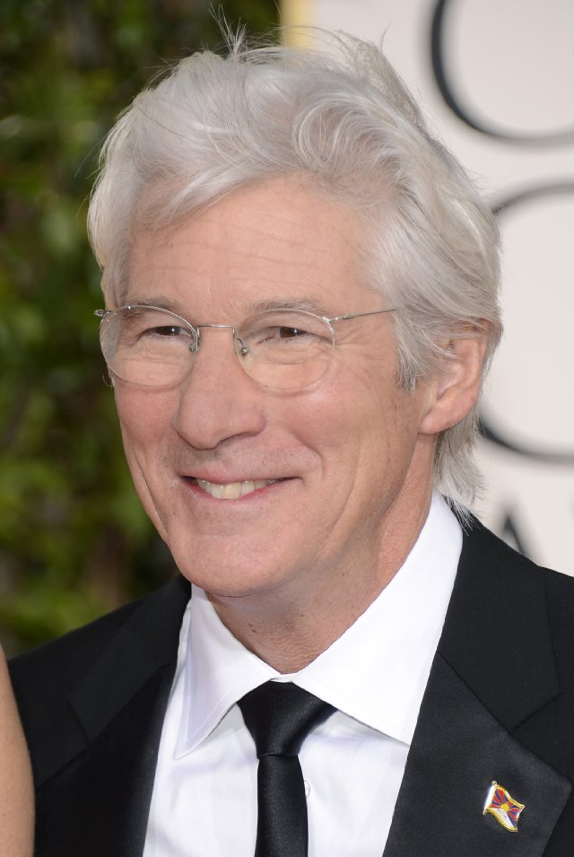 Whole Dude-Whole Colors- Richard Gere in 2013-We are most familiar with changes in man's coloration that is related to age. In several cultures, people with silvery gray hair are treated with respect as the color symbolizes maturity, and wisdom.