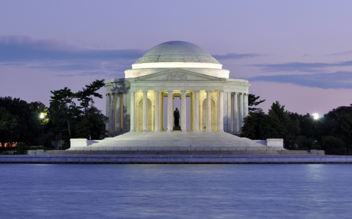 Whole Dude - Whole Declaration: Jefferson Memorial in Washington, DC. Jefferson stated that the Declaration was intended to be an expression of the American mind. He intended to translate its principles into practice and to create in America a society in which the gap between aspiration and achievement would be narrowed. The US had erected the Memorial and has yet to reduce the gap between ideals and the reality of Independence where man's natural rights are defended by a representative government.