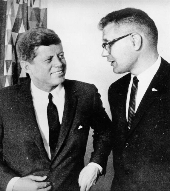 Whole Dude - Whole Representative: Representative John Dingell with John F Kennedy, 35th president of the US(1961-1963). Representative Dingell supported the initiative of Kennedy administration to fund the Tibetan Resistance Movement.