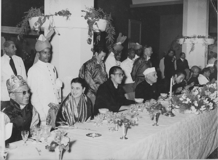The History of Special Frontier Force-Establishment No. 22: India and Tibet had no intentions to formulate a military alliance/pact in response to China's military occupation. They had expected that China would consent to release its military grip and allow full autonomy. A banquet held in Ashoka Hotel, New Delhi in 1956 to honour the visiting Head of State, the 14th Dalai Lama of Tibet.