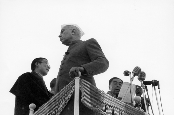 The History of Special Frontier Force-Establishment No. 22: This photo image of Prime Minister Chou En-Lai, Prime Minister Jawaharlal Nehru, and the 14th Dalai Lama demonstrates the desire of India to promote peaceful co-existence. Establishment No. 22 represents the failure of India's peace initiative. The military occupation of Tibet is not a friendly posture and China could not be trusted as a friend.
