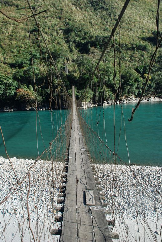 "Special Frontier Force - Lohit River: This bridge swings in the air and is commonly called ""JHULA"" which refers to the swing found in recreational parks and playgrounds."