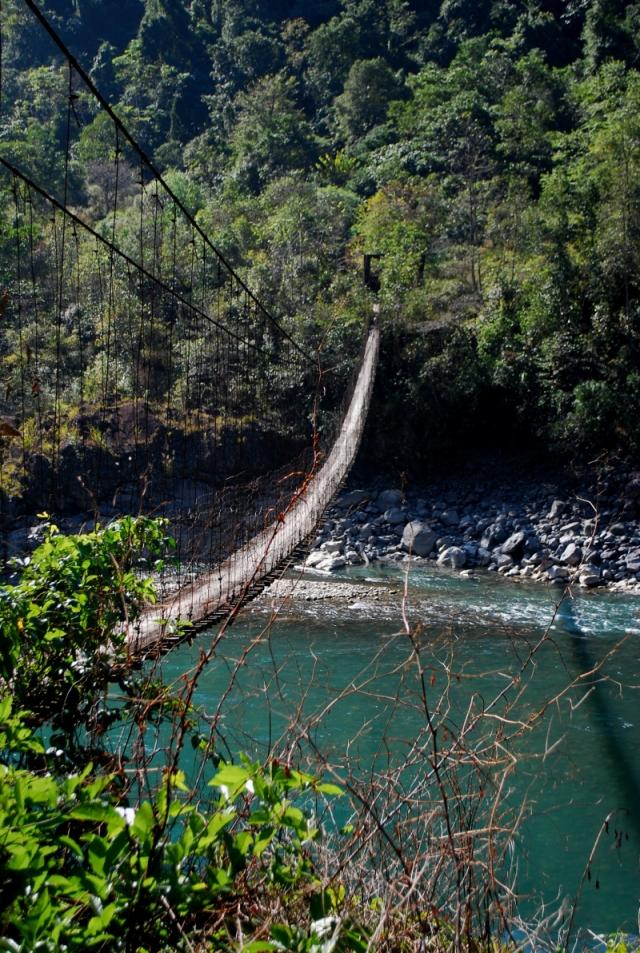 Special Frontier Force - Lohit River: Suspension Bridge across Lohit River.