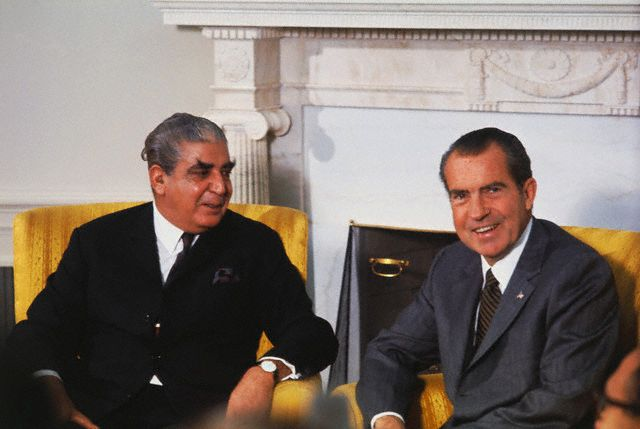 WholeDude - WholeVillain: The role of General Yahya Khan, the military ruler of Pakistan, and US President Nixon in the brutal killings of unarmed civilians in East Pakistan during 1971 is now fully revealed. This is their photo image dated October 24, 1970.