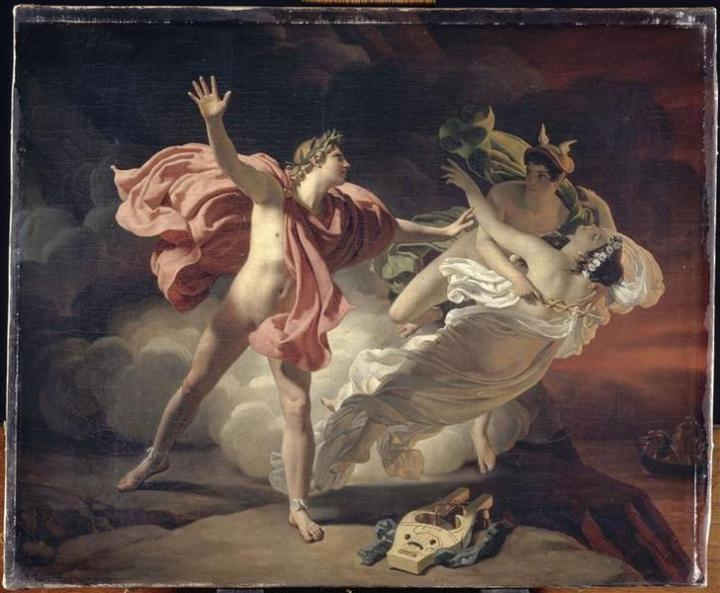 WholeDude - WholeDesigner - Whole Aesthetics: In Greek mythology, Orpheus, son of Apollo and Muse Calliope, played the Lyre beautifully that he charmed the beasts, trees, and rivers. He is seen recovering his wife Eurydice from Hades after her death. It describes the pain and suffering of human existence and the struggle to overcome it.