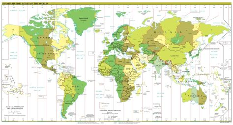 HAPPY NEW YEAR - THE PERCEPTION OF TIME: Astronomers use Universal Time, this can be taken as the Mean Solar Time on the Greenwich Meridian. The world is divided up into about 24 Time Zones.