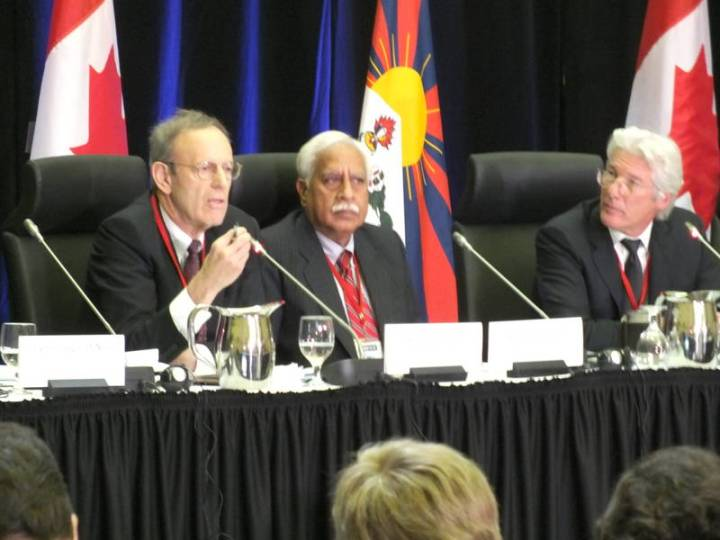 SPECIAL FRONTIER FORCE - CHINA'S MILITARY THREAT: WORLD PARLIAMENTARIANS CONVENTION ON TIBET HELD IN OTTAWA, CANADA, 2012. Carl Gershman, President of the National Endowment for Democracy, Washington, DC, Professor Jayadeva Ranade, Distinguished Fellow with the Centre for Air Power Studies, New Delhi, with Richard Gere, Chairman of the International Campaign for Tibet.