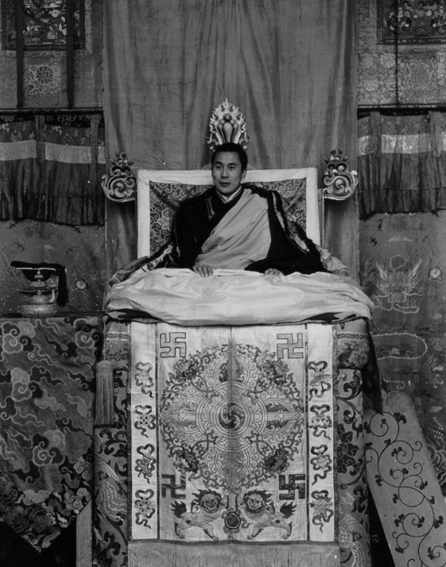 Chakrata Karma. My Life Journey From Freedom in Chakrata to Slavery in the United States. The 14th Dalai Lama sitting on the throne in this photo image of 1956-57 while Tibet came under Communist China's military occupation during 1950. With military assistance from the United States and India, Tibetans had revolted against the Communists and the Dalai Lama fled into exile when the massive Tibetan Uprising failed during March 1959.