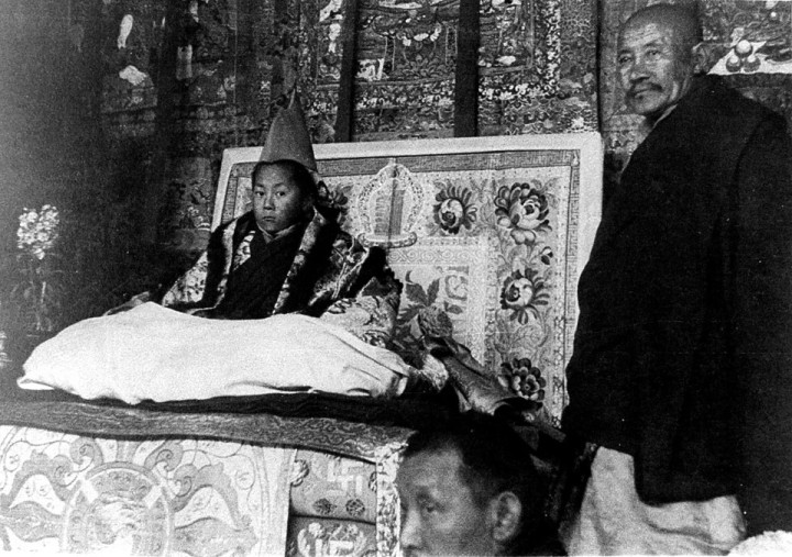 SPECIAL FRONTIER FORCE AT THE WHITE HOUSE: Tenzin Gyatso(b. 1935), the 14th Dalai Lama's Enthronement Ceremony on 22 February, 1940. Dalai Lama is the ruler of Tibet.