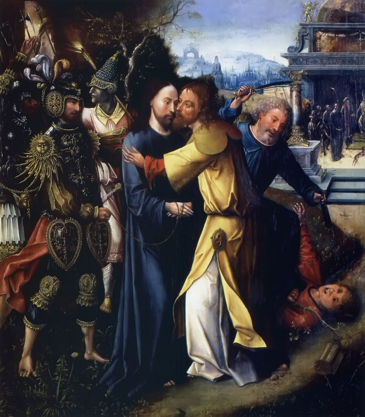 the betrayal and arrest of jesus how to draw it