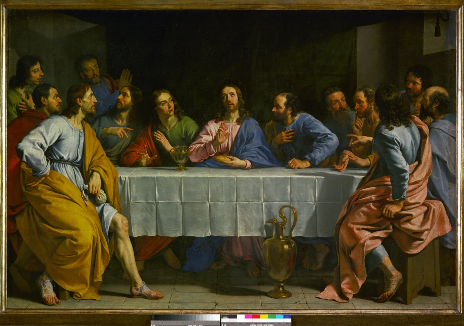 """SPIRITUALITY SCIENCE - MORAL BEING: At the """"Last Supper"""", Jesus revealed that one of the disciples woudl betray him. Judas Iscariot is depicted as the keeper of the money bag."""