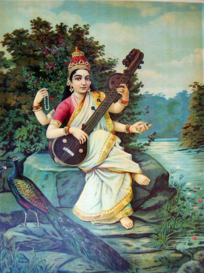 SPIRITUALITY SCIENCE - THE ORIGIN OF MAN: In Indian tradition, Goddess Sarasvati personifies human intellectual abilities like Language, Art, Music. She is the Goddess of Speech, Pure Knowledge and of Perfect Wisdom. In Indian Culture, human learning commences after seeking Her Blessings for the fulfilment of human desire to acquire Knowledge and Wisdom.