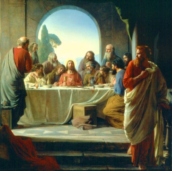 """SPIRITUALITY SCIENCE - MORAL BEING:  The """"Last Supper."""" As soon as Judas took the bread, Satan entered into him. Jesus dismissed Judas; and Judas went out to do the dastardly deed that he had already planned."""