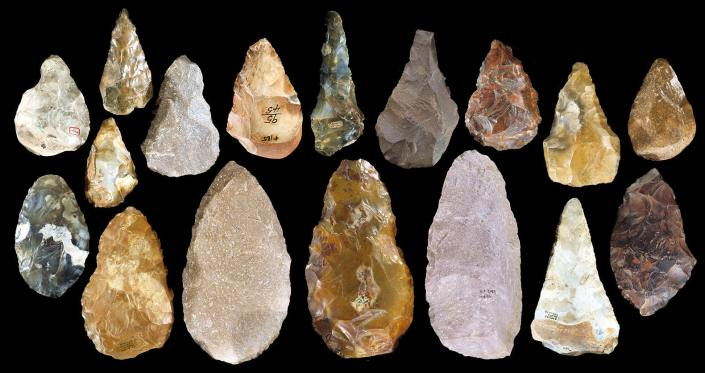 SPIRITUALITY SCIENCE - THE STATUS OF MAN: THE HANDAXES OF PALEOLITHIC PERIOD. HAND AX APPEARED ABOUT 700,000 YEARS AGO.