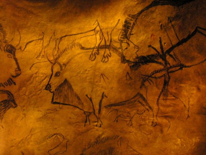 SPIRITUALITY SCIENCE - THE STATUS OF MAN: THE EVIDENCE OF PRECISION GRIP. NIAUX CAVE PAINTINGS, c.14,000-c. 9500 B.C., THE SOLUTREO - MAGDALENIAN PERIOD.