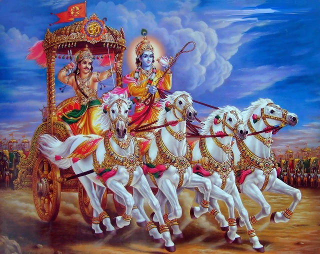 THE ART OF SPIRITUAL LIVING : INDIAN TRADITION USES THE ANALOGY OF CHARIOT TO EXPLAIN THE HIERARCHICAL RELATIONSHIP BETWEEN INERT MATTER, BODY, SENSES, MIND, INTELLECT THAT CAN HELP TO CONTROL THE HORSES CALLED DESIRES.