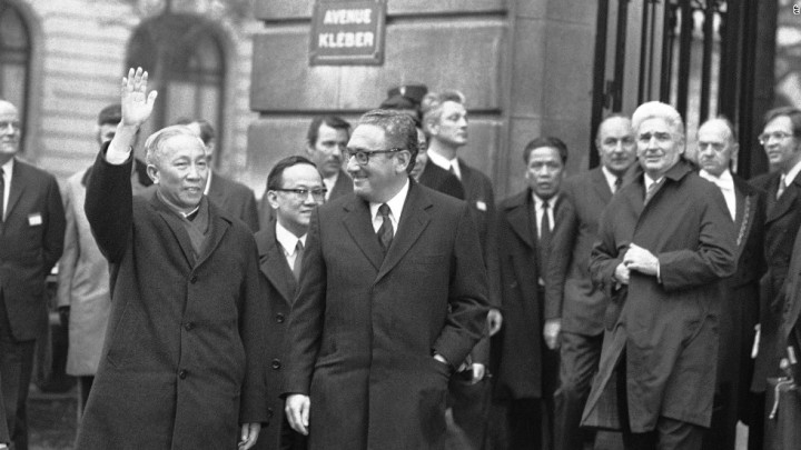 #WHOLEVILLAIN  -  WHOLEVILLAIN  -  WHOLE  VILLAIN  -  HISTORY  OF  THE  US-TIBET  RELATIONS  :  DR  HENRY  ALFRED  KISSINGER  WON  THE  1973  NOBEL  PEACE  PRIZE  FOR  MAKING  A  CEASE-FIRE  AGREEMENT  WITH  NORTH  VIETNAM  .  IT  WAS  SOON  FOLLOWED  BY  UTTER  DISASTER .  US  ARMY  WAS  BETRAYED .  SAIGON  WAS  CAPTURED  BY  NORTH  VIETNAM .