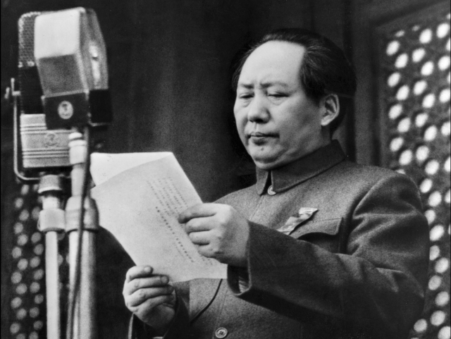 "SPECIAL  FRONTIER  FORCE  VS  THE  EVIL  RED EMPIRE : MAO  ZEDONG  OR  MAO  TSE-TUNG  PROCLAIMS  THE  FOUNDING  OF  THE  PEOPLE'S  REPUBLIC  OF  CHINA  IN  PEKING (BEIJING)  ON  OCTOBER  01,  1949.  THIS  NATION  IS  FOUNDED  ON  THE  IDEOLOGY  OF  COMMUNISM  FOLLOWING  ""RED  REVOLUTION.""  THIS  RED  CHINA  IS  AN  EVIL  EMPIRE  FROM  ITS  BIRTH ."