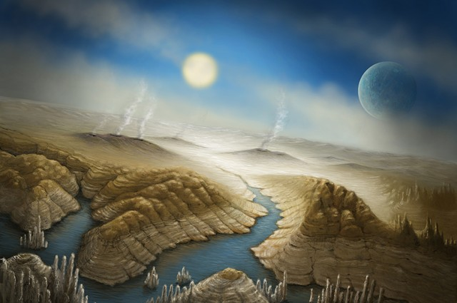 WHAT IS CREATION?ARTISTIC INTERPRETATION OF KEPLER-452b AND OF ITS ABILITY TO SUPPORT LIFE.