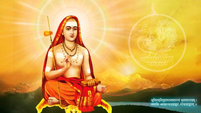 BHARAT DARSHAN -THREE GREAT TEACHERS OF INDIA: ADI SHANKARACHARYA(c.788 - c.820), EXPONENT OF 'ADVAITA' OR NON-DUALISM. MAN EXISTS ON EARTH UNDER POWERFUL INFLUENCE CALLED MAYA OR GRAND ILLUSION.