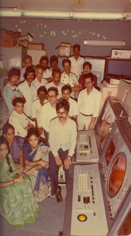 BHARAT DARSHAN - INDIA'S FIRST COMPUTER DEVELOPED AT 'TIFR'. THIS GROUP IS IDENTIFIED AS TIFR ADGES CONSOLES TEAM. MY HEARTY CONGRATULATIONS TO ALL OF THEM WHO HELPED DEVELOPMENT OF AIR DEFENCE SYSTEM.
