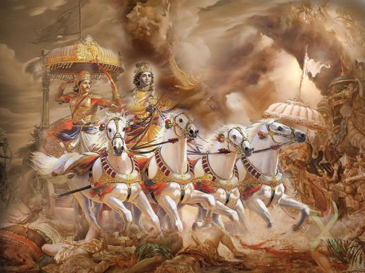 BHARAT DARSHAN - BHAGAVAN VED VYAS - AUTHOR OF GEETOPANISHAD. TO FIGHT WITH AN EXTERNAL ENEMY IS EASY. MAN HAS TO BE MINDFUL OF INTERNAL ENEMY CALLED 'DESIRE' WHICH HAS SIX DIMENSIONS.