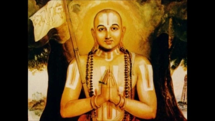 BHARAT DARSHAN - THREE GREAT TEACHERS OF INDIA: RAMANUJACHARYA(c.1017 - c.1137), EXPONENT OF 'VISISHTADVAITA' OR MODIFIED NON-DUALISM FORMULATED RATIONAL BASIS TO WORSHIP 'PERSONAL GOD' WITH DEVOTION. GOD CREATED MAN AS AN INDIVIDUAL WITH INDIVIDUALITY AND MAN CAN NEVER CEASE TO BE AN INDIVIDUAL.