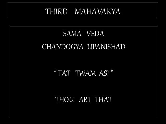 "FIFTH MAHAVAKYA - ""TAT ASMI PRABHO"" - FUNDAMENTAL DUALISM:"
