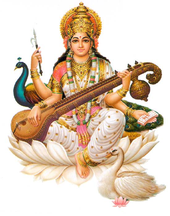 BHARAT DARSHAN - DEVI NAVARATRI. GODDESS SARASVATI PUJA OR WORSHIP ON MONDAY, OCTOBER 19, 2015.