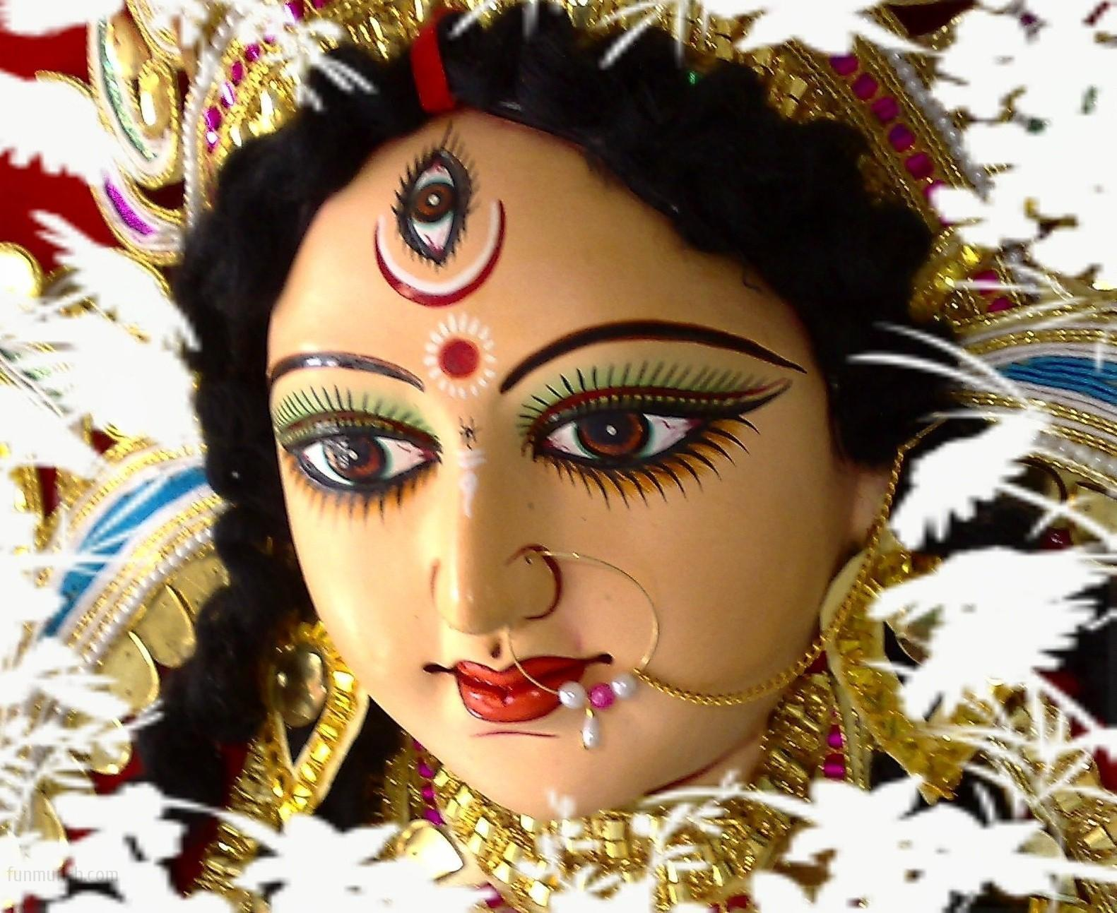 BHARAT DARSHAN - DEVI NAVRATRI - GOD AS MALE AND FEMALE. DEVI OR SHAKTI IS OFTEN CALLED 'DURGA' FOR SHE IS EMBODIMENT OF GREAT STRENGTH. SHE IS ALSO CALLED BHADRAKALI, JAGADAMBA, ANNAPURNA, SARVAMANGALA, BHAIRAVI, CHANDIKA, LALITA, BHAVANI, AND MOOKAMBIKA.