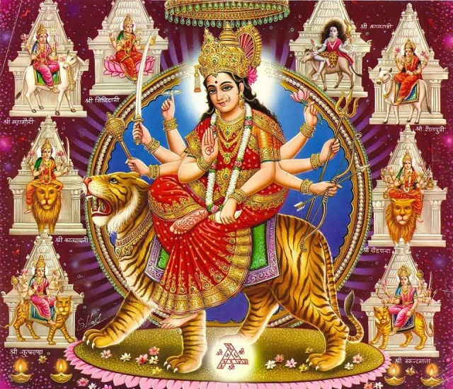 BHARAT DARSHAN - DEVI NAVRATRI - GOD AS MALE AND FEMALE. NINE DIFFERENT FORMS OF WORSHIP CALLED TARA - TARINI SHAKTI.