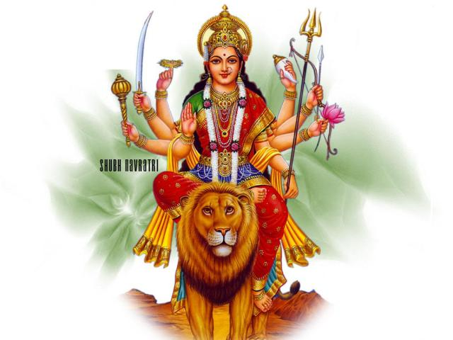 BHARAT DARSHAN - DEVI NAVRATRI - GOD BOTH MALE AND FEMALE. GODDESS DURGA IS PERSONIFICATION OF GOD'S OMNIPOTENCE.