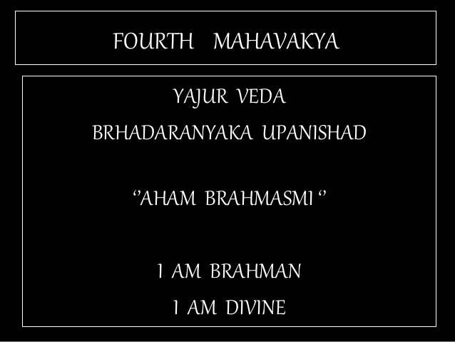 TAT ASMI PRABHO - CONSTITUTIVE AND REGULATIVE PRINCIPLES OF EXISTENCE. THIS UPANISHADIC APHORISM OR MAHAVAKYA SPEAKS OF IDENTITY SHARED BY MAN(SELF) AND GOD. IT DOES NOT DESCRIBE AS TO WHO HAS THE POWER TO REGULATE OR OPERATE THAT IDENTITY.